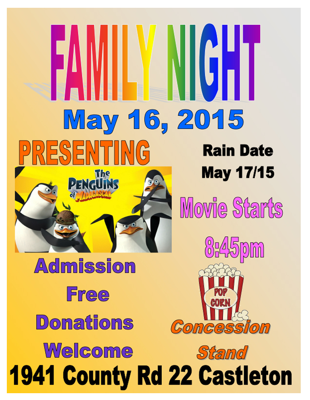 CN Family Fun Night Flyer 2015